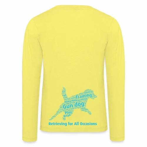 Retrieving for All Occasions wordcloud blått - Långärmad premium-T-shirt barn