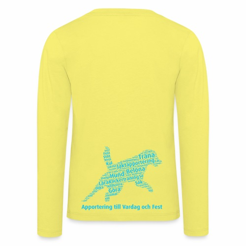 Apportering till vardag och fest wordcloud blått - Långärmad premium-T-shirt barn