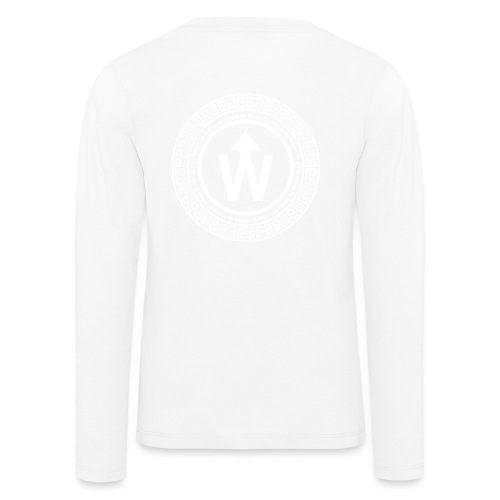 wit logo transparante achtergrond - Kinderen Premium shirt met lange mouwen