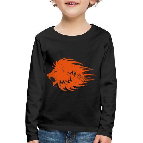 MWB Print Lion Orange - Kids' Premium Longsleeve Shirt