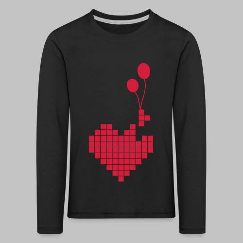 heart and balloons - Kids' Premium Longsleeve Shirt