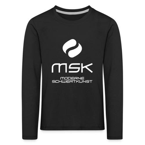 Logo_mit_schrift_2zeilig_ - Kinder Premium Langarmshirt