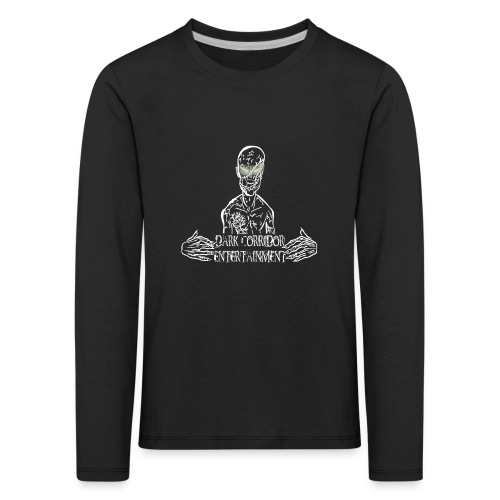 Dark Corridor Logo in Standardgröße mit Schriftzug - Kinder Premium Langarmshirt