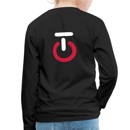Logo lille v5 - Børne premium T-shirt med lange ærmer