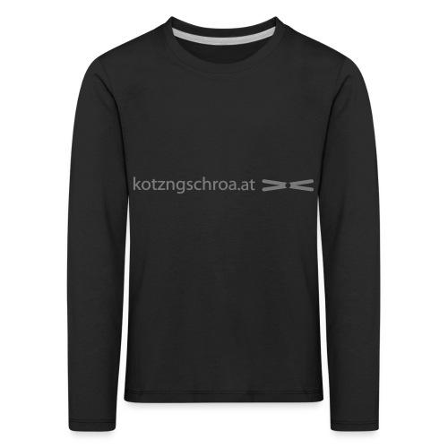 kotzngschroaat motiv - Kinder Premium Langarmshirt