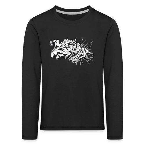 graffiti 2Wear dae120 2tone - Børne premium T-shirt med lange ærmer
