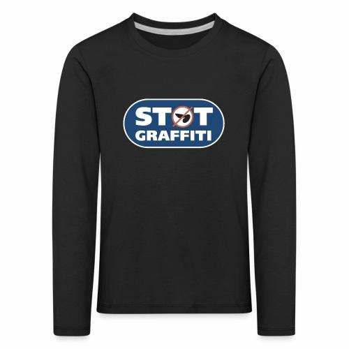 støt graffiti ver 0 2 - Børne premium T-shirt med lange ærmer