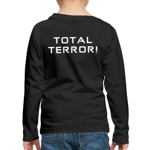 White Negant logo + TOTAL TERROR! - Børne premium T-shirt med lange ærmer