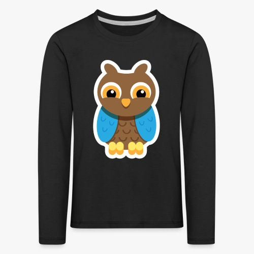 Owlford - Børne premium T-shirt med lange ærmer