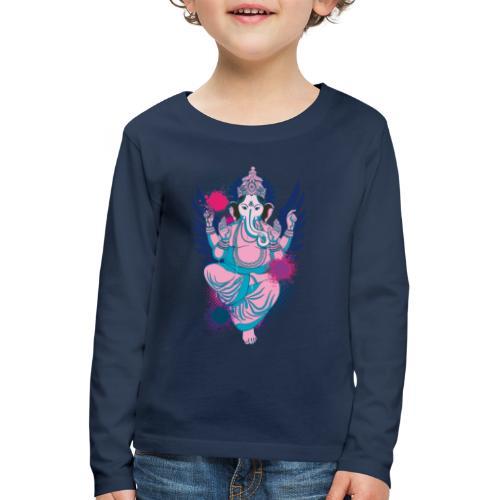 Ganesha dein Glücksgott macht den WEG frei - Kinder Premium Langarmshirt