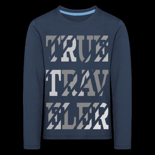 True Traveler Grey design - Lasten premium pitkähihainen t-paita