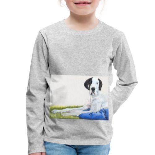 Grand danios harlequin - Børne premium T-shirt med lange ærmer