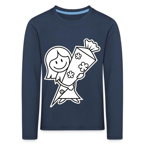 vl028b_schulanfang_2c - Kinder Premium Langarmshirt
