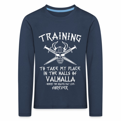 training for Valhalla - Camiseta de manga larga premium niño