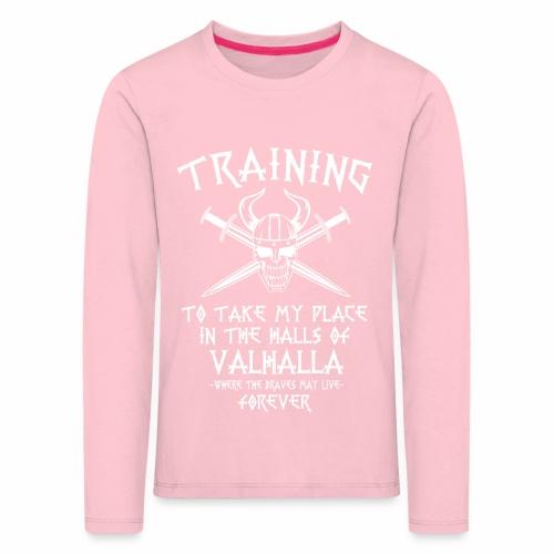 training for Valhalla - Camiseta de manga larga premium niño