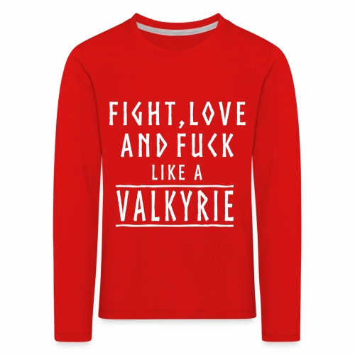 Like a valkyrie - Camiseta de manga larga premium niño