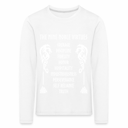 Nine nobles virtues - Camiseta de manga larga premium niño