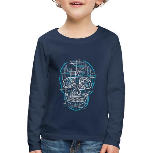 electric skull tshirt ✅ - Kinder Premium Langarmshirt