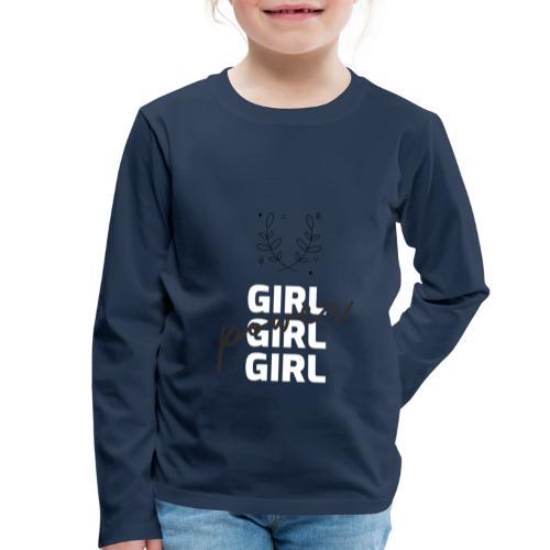 girl power t shirt design - Camiseta de manga larga premium niño