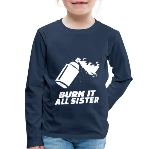 feminist themed t shirt design maker featuring - Camiseta de manga larga premium niño