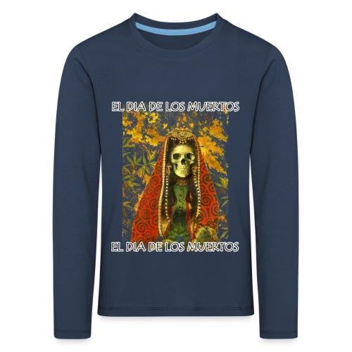 El Dia De Los Muertos Skeleton Design - Kids' Premium Longsleeve Shirt