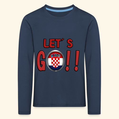 Go Croatia - Maglietta Premium a manica lunga per bambini