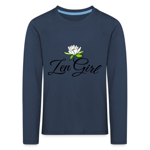 zengirl with lotusflower for purity in life - Långärmad premium-T-shirt barn