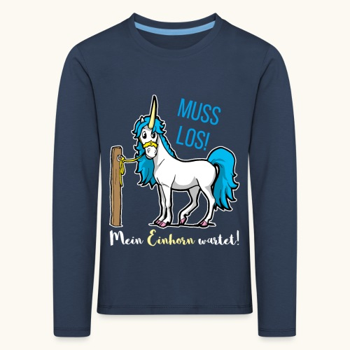 Dessin drôle de licorne disant bande dessinée cadeau - T-shirt manches longues Premium Enfant
