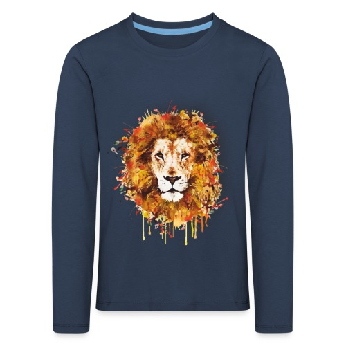 Lion Art - Lion of Judah - Rastafari - Reggae - - Kinder Premium Langarmshirt