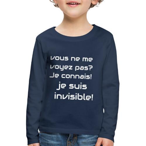 Invisibile #invisibile - Maglietta Premium a manica lunga per bambini