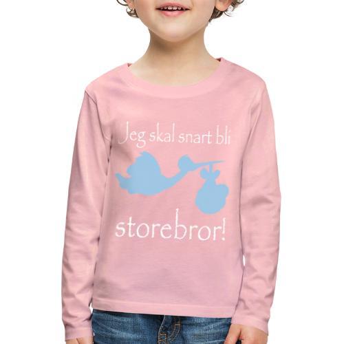 Jeg skal bli storebror - Premium langermet T-skjorte for barn