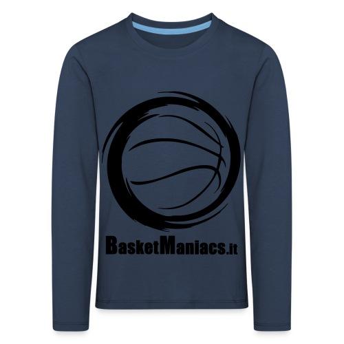Basket Maniacs - Maglietta Premium a manica lunga per bambini