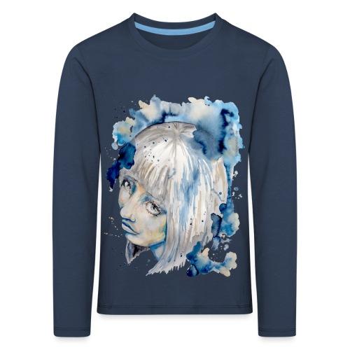 Nieves watercolorpainting by carographic - Kinder Premium Langarmshirt