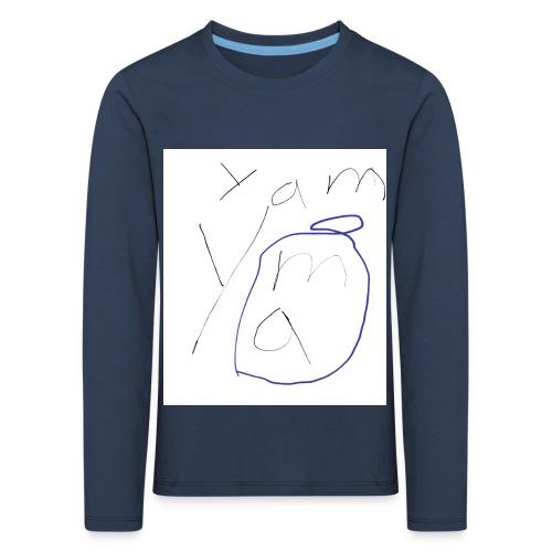Yam yam t-shirt - Kinder Premium Langarmshirt