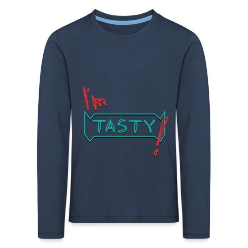 I'm tasty - Kinder Premium Langarmshirt
