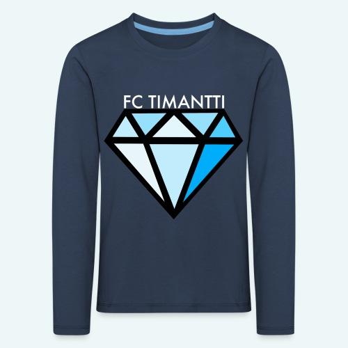 FCTimantti logo valkteksti futura - Lasten premium pitkähihainen t-paita