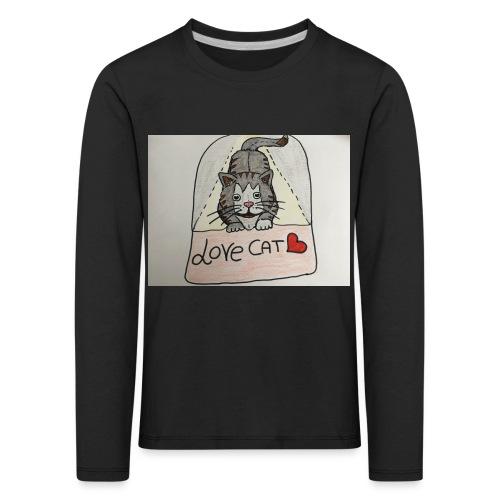 Love cat - Maglietta Premium a manica lunga per bambini
