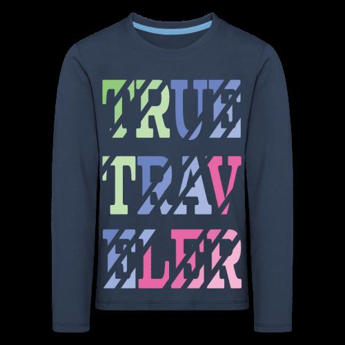 TrueTraveler - Lasten premium pitkähihainen t-paita