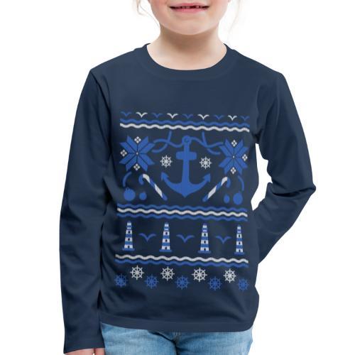 Baltic Christmas - Kinder Premium Langarmshirt
