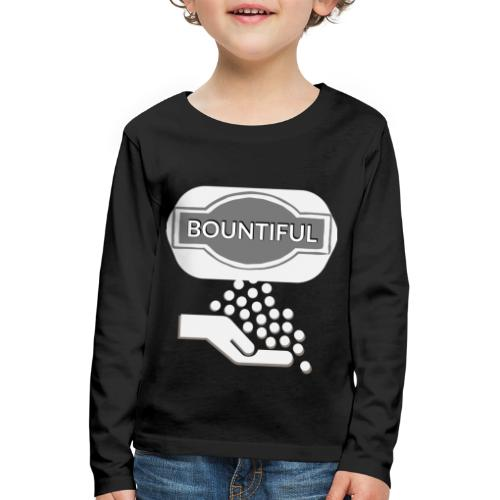 Bontiul gray white - Kids' Premium Longsleeve Shirt