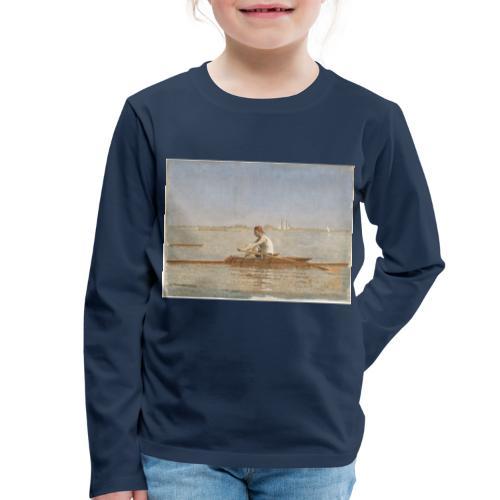 John Biglin in a Single Scull - Thomas Eakins - T-shirt manches longues Premium Enfant