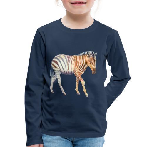 Zebra grants - Børne premium T-shirt med lange ærmer