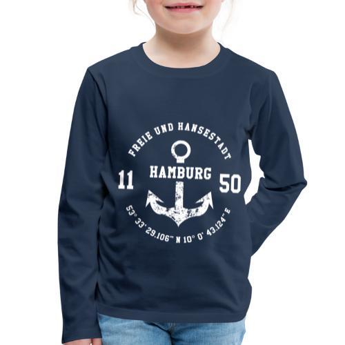 Freie und Hansestadt Hamburg 1150 weiss - Kinder Premium Langarmshirt