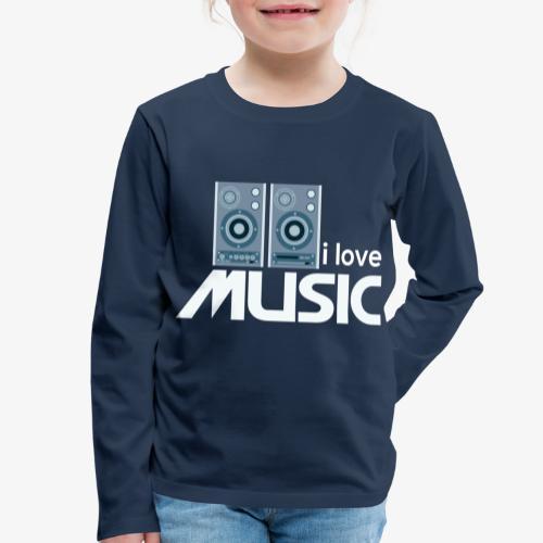 Amo la música 02 - Camiseta de manga larga premium niño