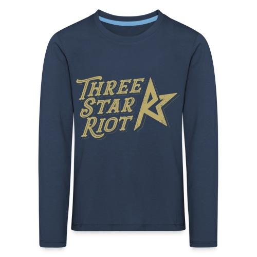 Three Star Riot logo väri - Lasten premium pitkähihainen t-paita