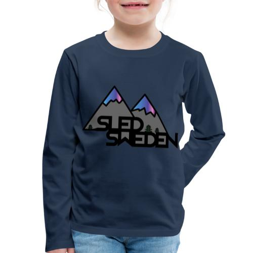 SledSweden Official Logo Special Edition - Långärmad premium-T-shirt barn