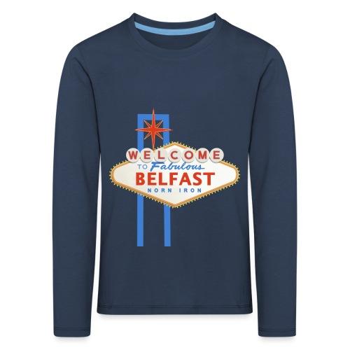 Belfast - Vegas sign - Kids' Premium Longsleeve Shirt