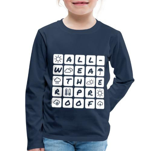 Outdoor - all-weather proof / white-on-black - Kinder Premium Langarmshirt