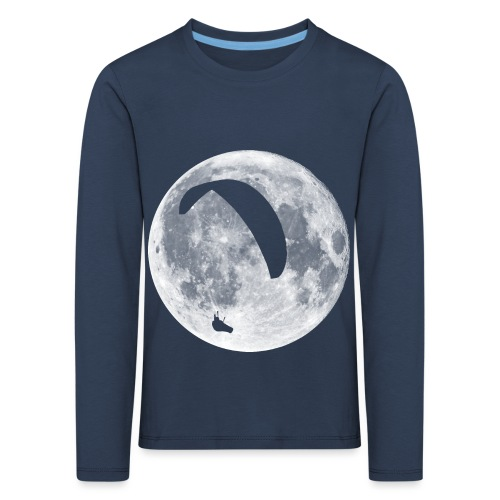Paragleiter im Mond - Kinder Premium Langarmshirt