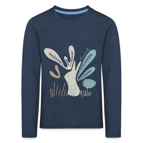 Rabbit in winter wonderland - Maglietta Premium a manica lunga per bambini